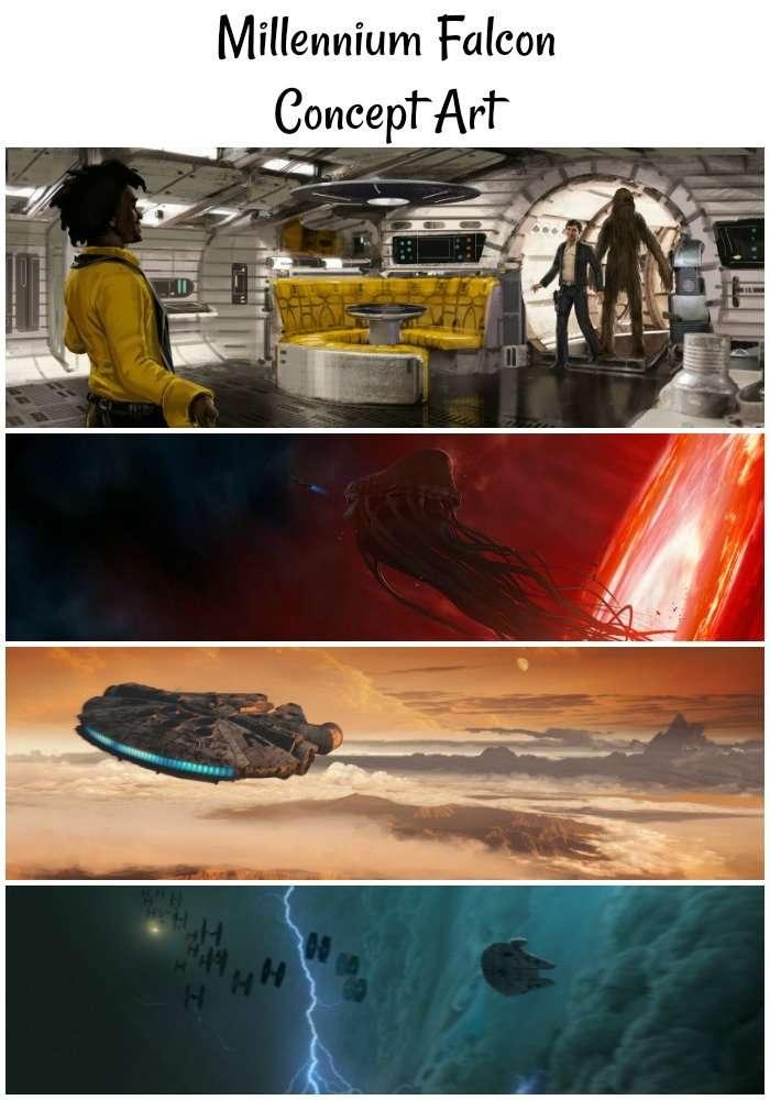 Millennium Falcon Concept Art from LucasFilms