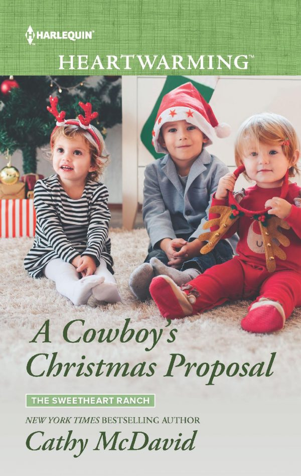 A Cowboy's Christmas Proposal by Cathy McDavid Book Review Clean Romance Cowboy Romance Christmas