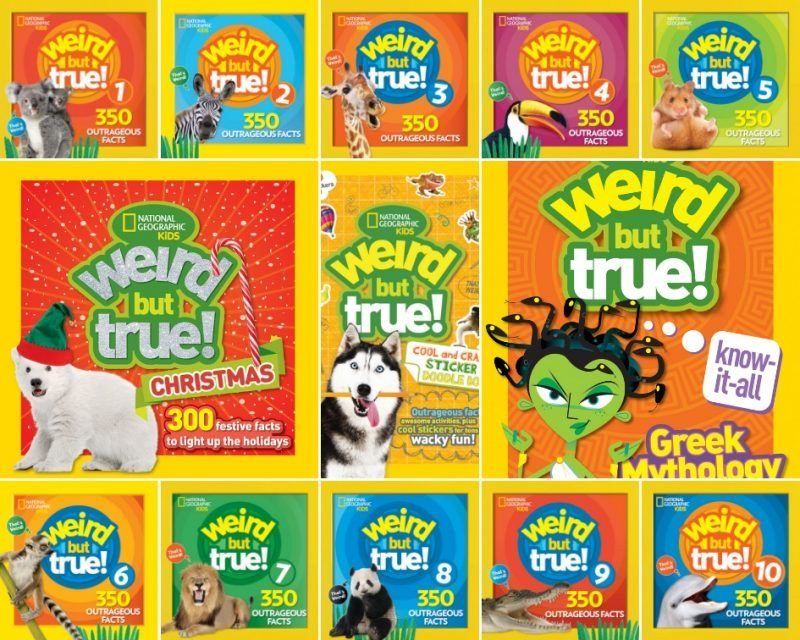 National Geographic Kids Weird But True! Mega Prize Pack