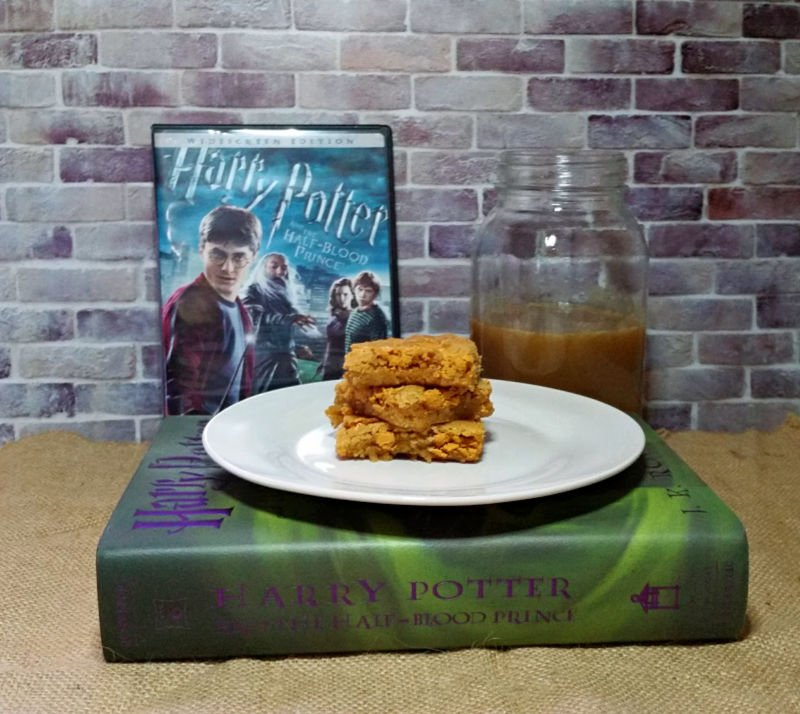 Butterbeer Blondies Recipe Harry Potter and The Half-Blood Prince
