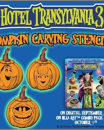 Get Some Hotel Transylvania 3 Pumpkin Carving Stencils