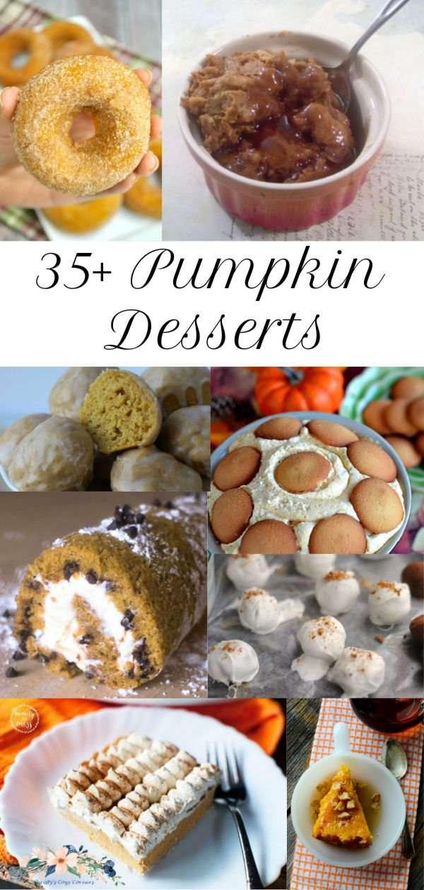 Pumpkin Donuts Recipe with Pumpkin Desserts Roundup