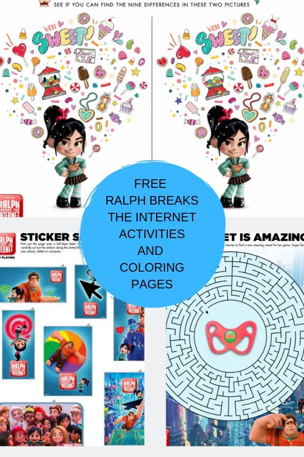 Ralph Breaks The Internet Movie Review Plus Free Coloring Pages and Activities