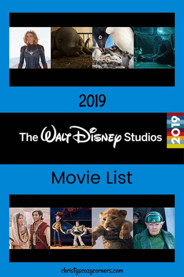 Disney Movies 2019 List Look at What's Coming from Walt Disney Studios