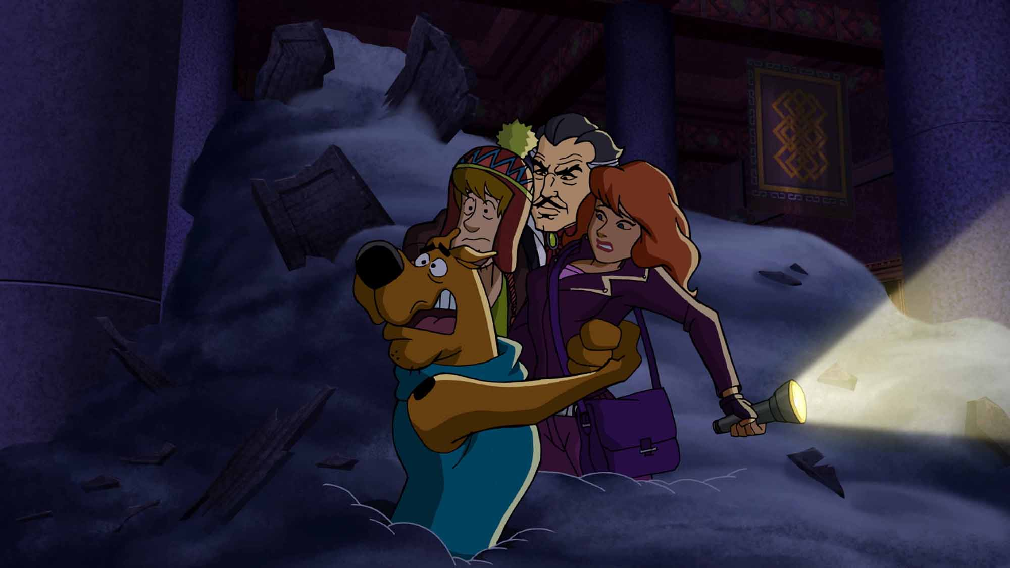 Scooby-Doo, Shaggy, Daphne and Vincent Van Ghoul