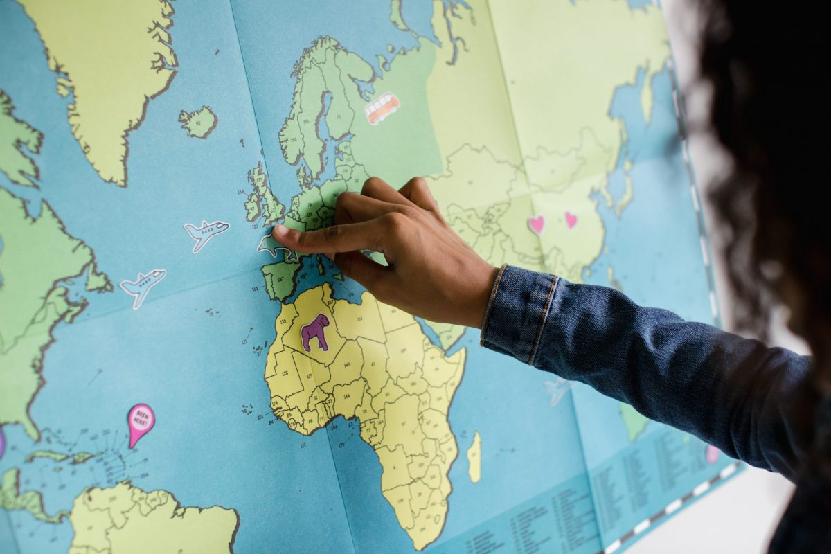 Maps make good wall hangings for children