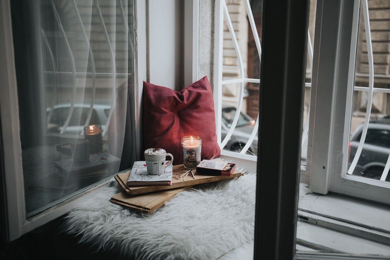 Cozy Hygge Candle Mug Pillow