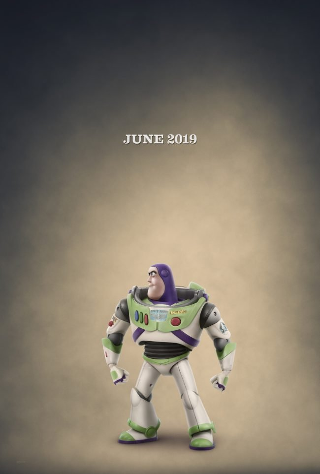Buzz Lightyear Character Poster for Toy Story 4