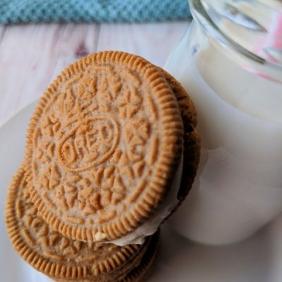 Carrot Cake OREO Cookies and Milk
