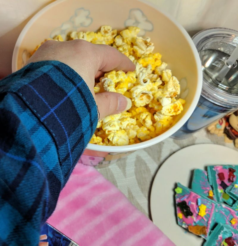Comfy Princesses Ralph Breaks the Internet Party with Popcorn and Candy Bark