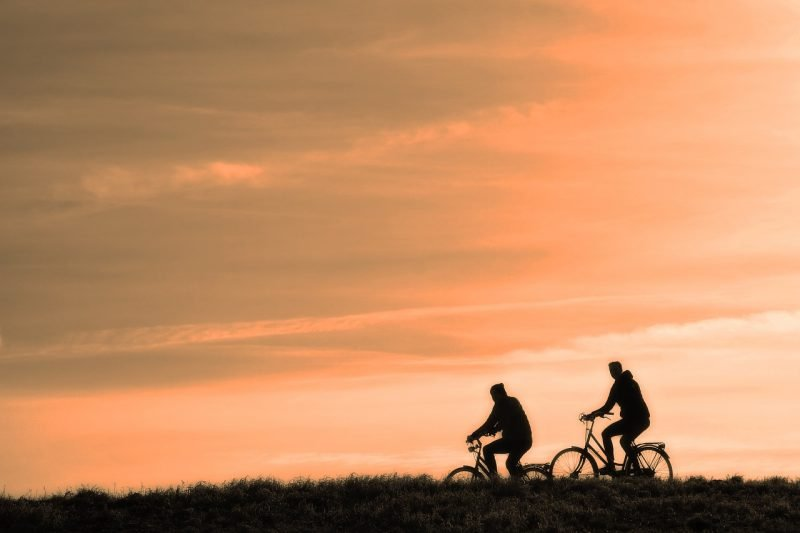 Riding bicycles can help us lead a healthier lifestyle
