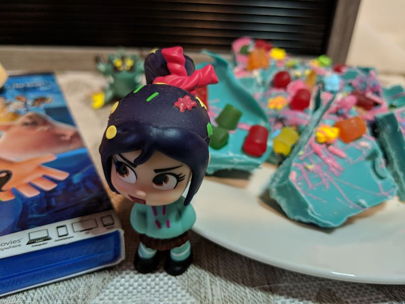 Comfy Princesses and Vanellope Inspired Candy Bark