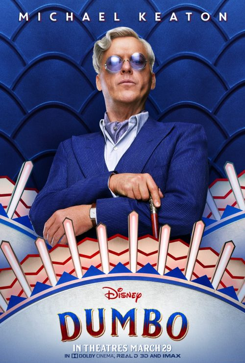 Dumbo Character Poster Michael Keaton