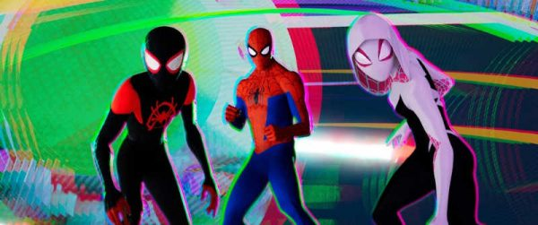 Spider-Man: Into The Spider-Verse Movie Review Film Still of Miles Morales, Peter Parker and Gwen