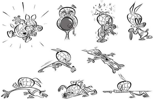 Spider-Ham Concept art