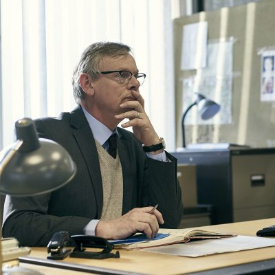 Martin Clunes as DCI Colin Sutton in Manhunt, one of the best international series on Acorn TV.