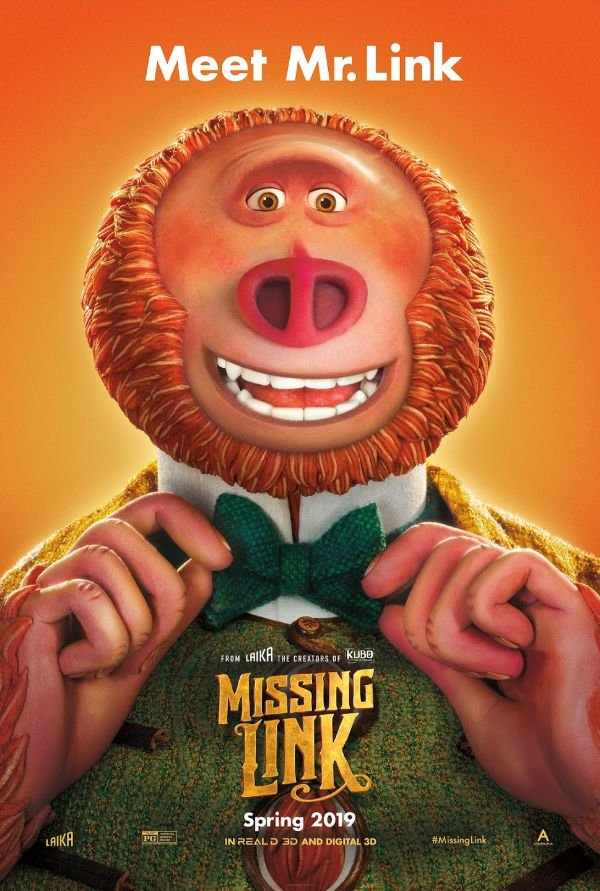 Missing Link Movie in Theaters April 12