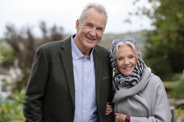 Larry Lamb and Hayley Mills in Pitching In on Acorn TV