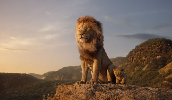 Mufasa on Pride Rock in The Lion King July 2019