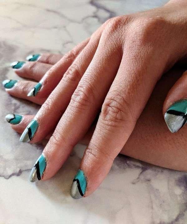 Shark Inspired Nail Art