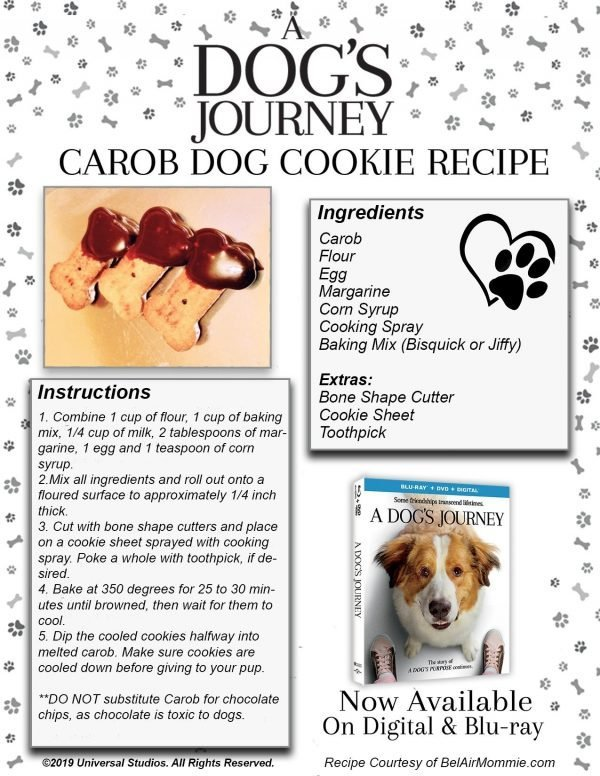 A Dog's Journey Dog Cookie Recipe