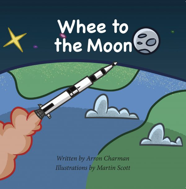Whee to the Moon Children's Book Cover