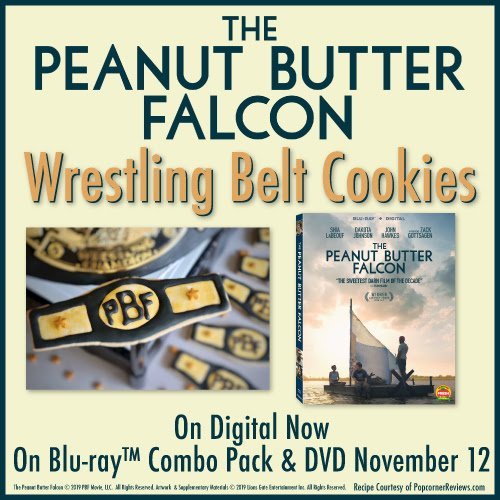 The Peanut Butter Falcon Wrestling Belt Cookies
